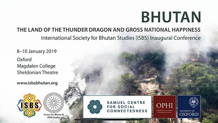 Inaugural conference of the International Society for Bhutan Studies20190123