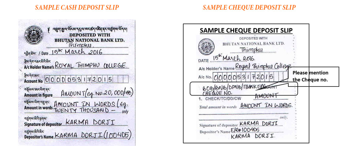 SAMPLE CASH AND CHEQUE DEPOSIT SLIP 20190509